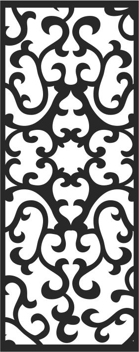 Screen Panels Swirl Free CDR Vectors Art