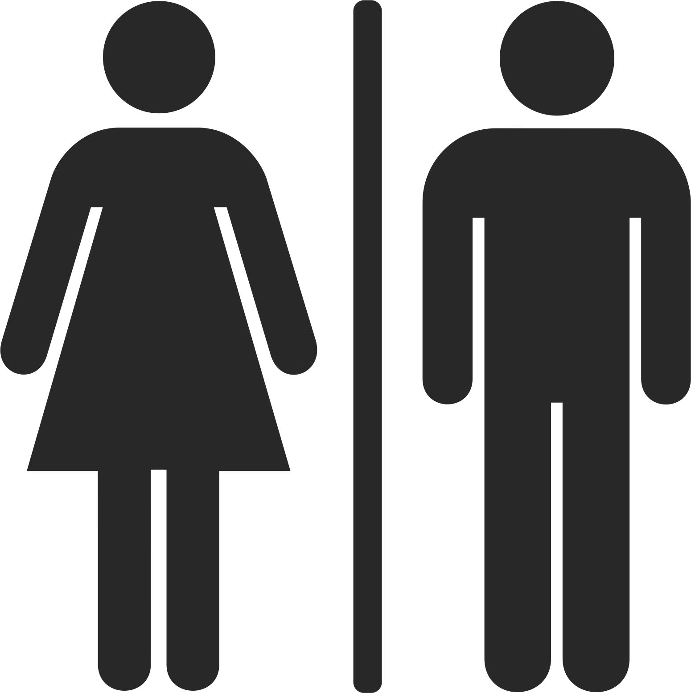 Toilet Man And Woman Sign Free CDR Vectors Art
