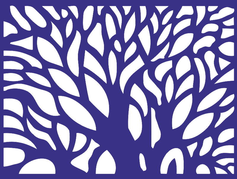CNC Pattern Tree Collection Free CDR Vectors Art