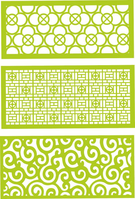 Decorative jali patterns Free CDR Vectors Art