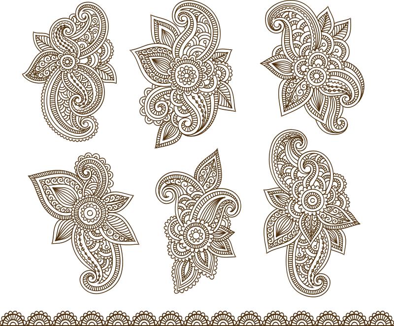 Henna Mehndi Paisley Tattoo Design Free CDR Vectors Art