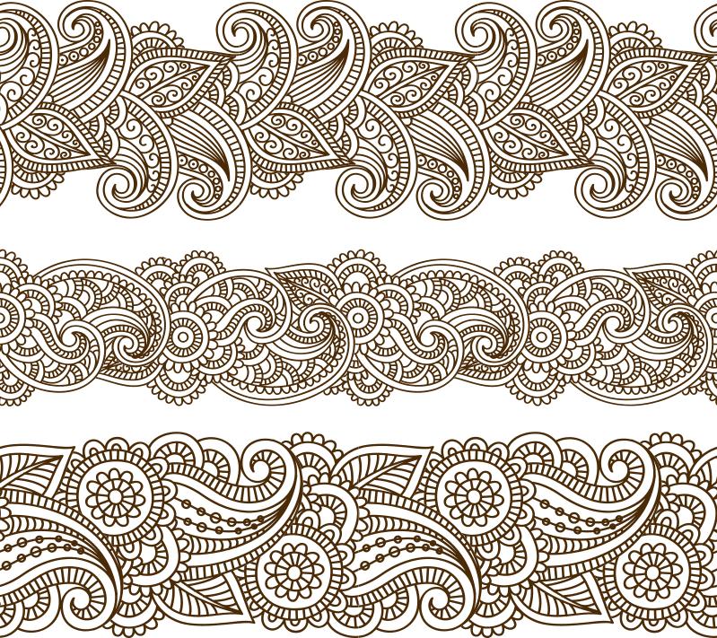 Mehndi  pattern Free CDR Vectors Art