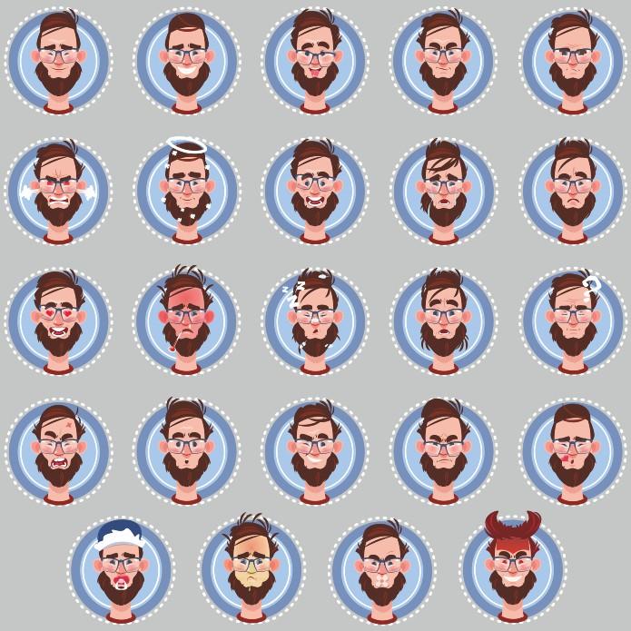 Smileys For Men Vector Collection Free CDR Vectors Art