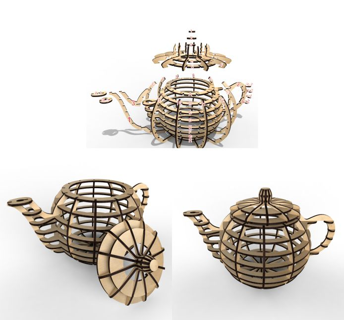 Tea House Vector Layout For Laser Cutting Free CDR Vectors Art