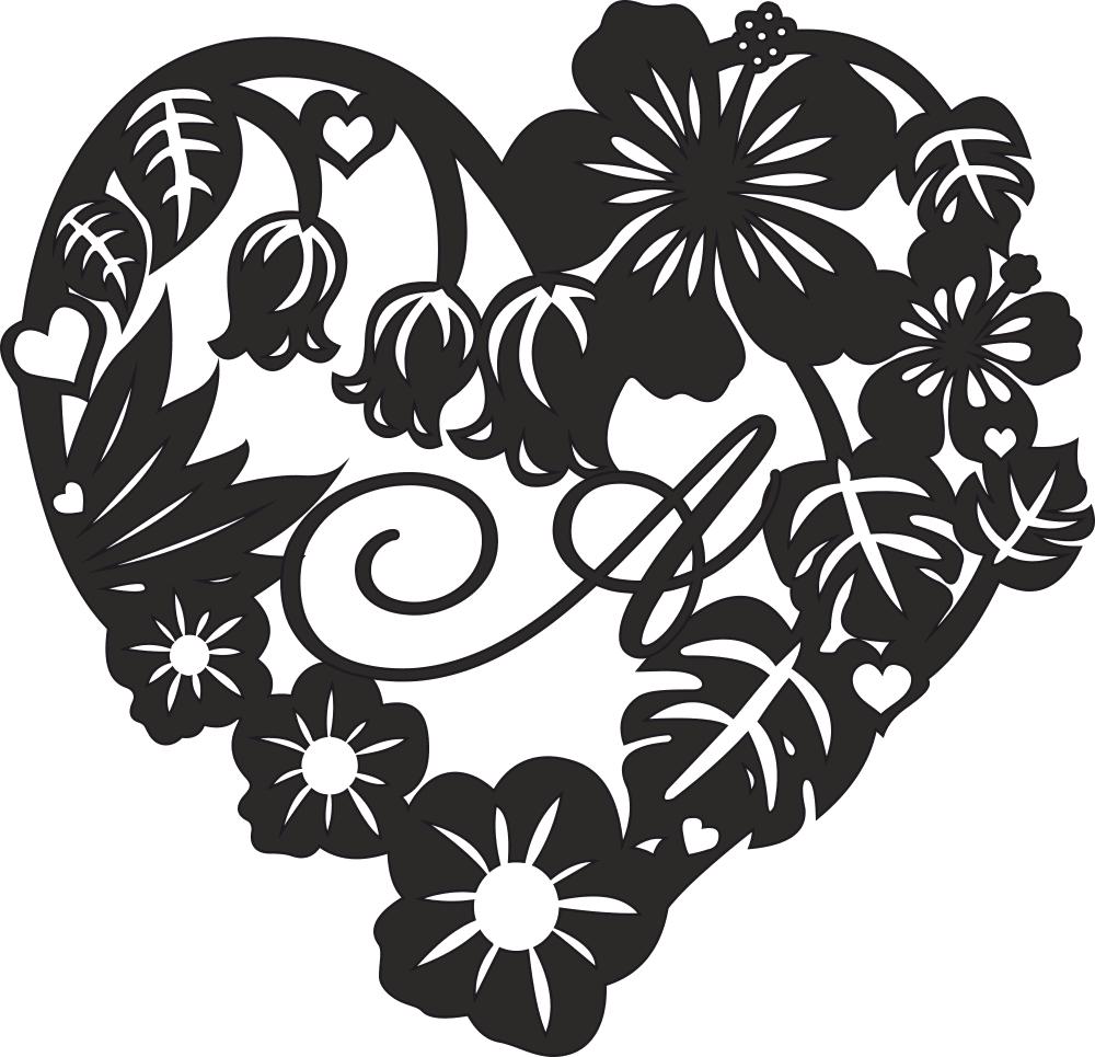 Valentine Heart Rose Flower Frame Free CDR Vectors Art