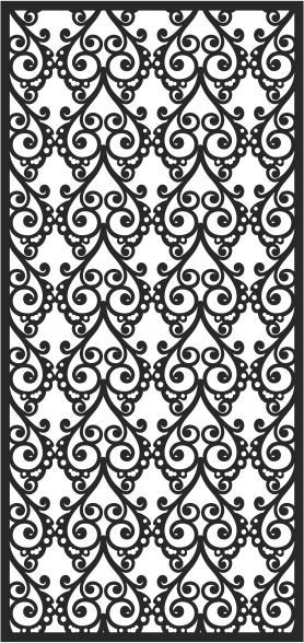 Screen Floral Pattern Design Free CDR Vectors Art