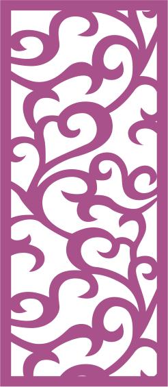 Floral Screen Pattern Seamless Free CDR Vectors Art