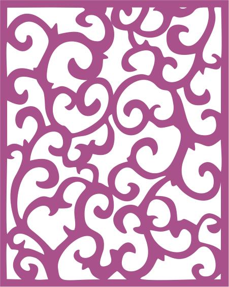 Screen Panel Swirl Free CDR Vectors Art
