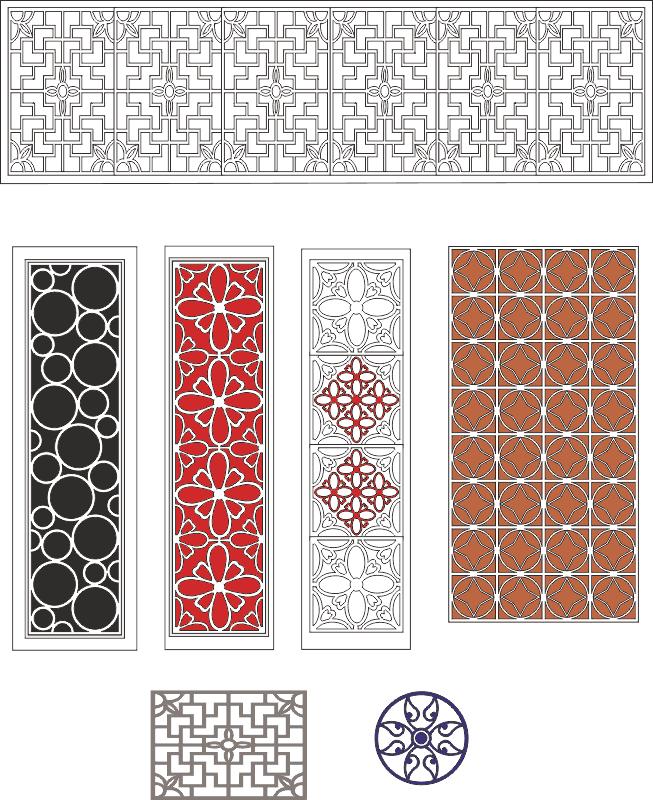 Lattice design collection Free CDR Vectors Art
