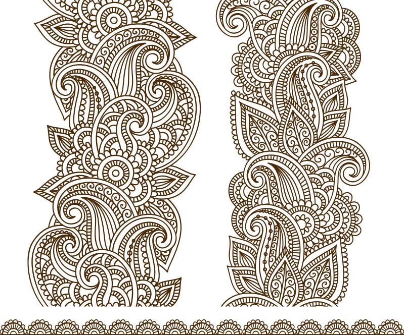 Drawn Mehndi Free CDR Vectors Art