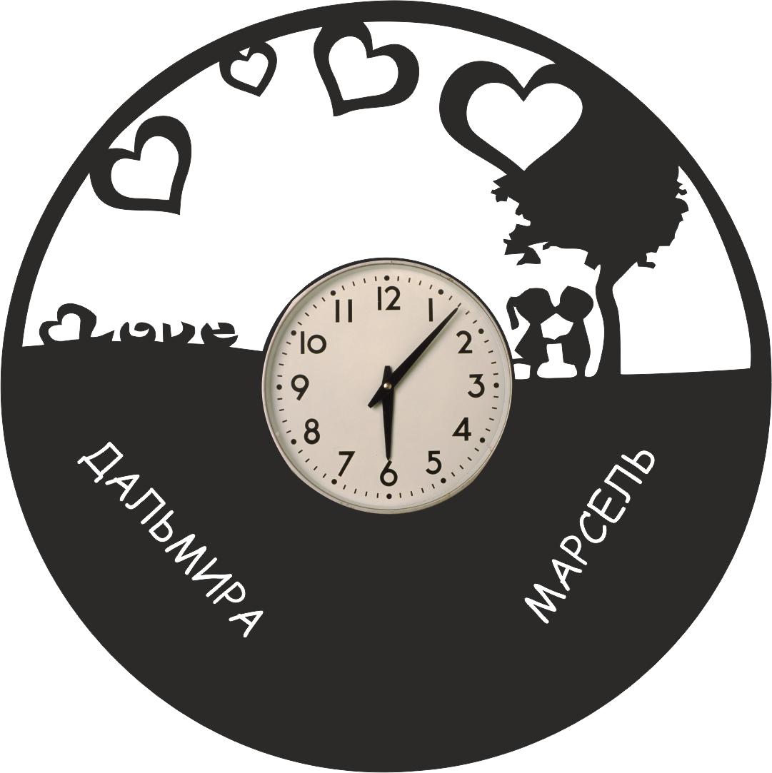 Love Vinyl Clock Free CDR Vectors Art