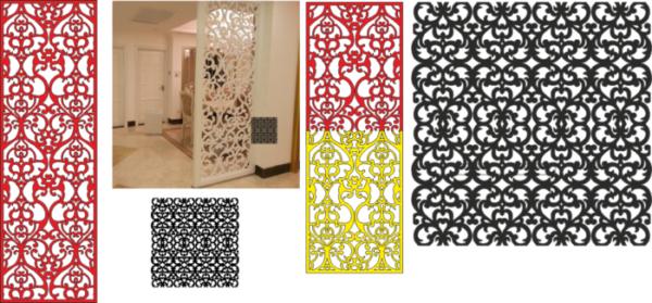 Decorative Screens reshetka luga Free CDR Vectors Art