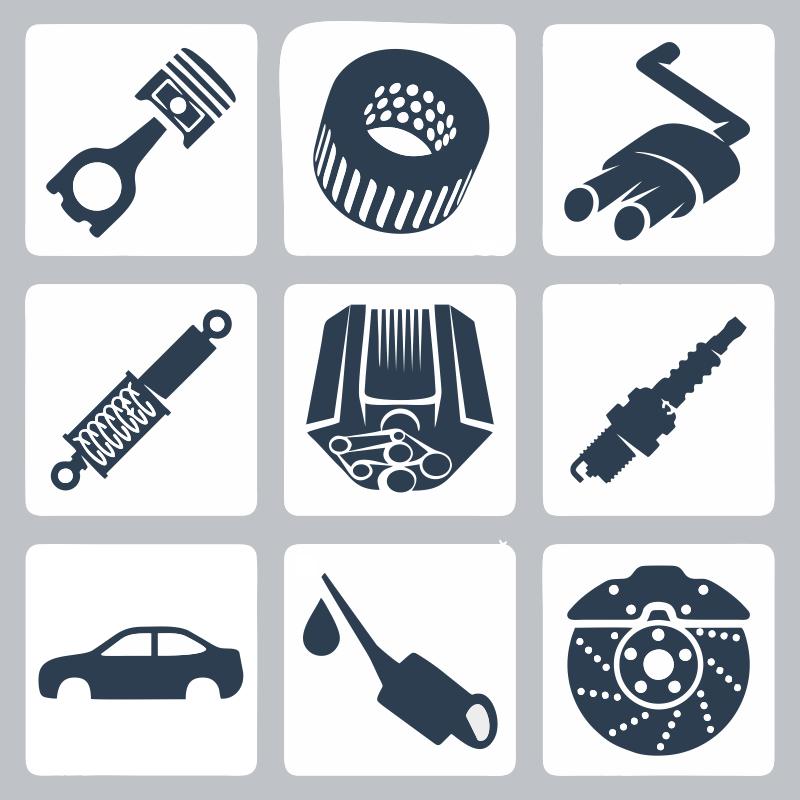 Car Parts Free CDR Vectors Art