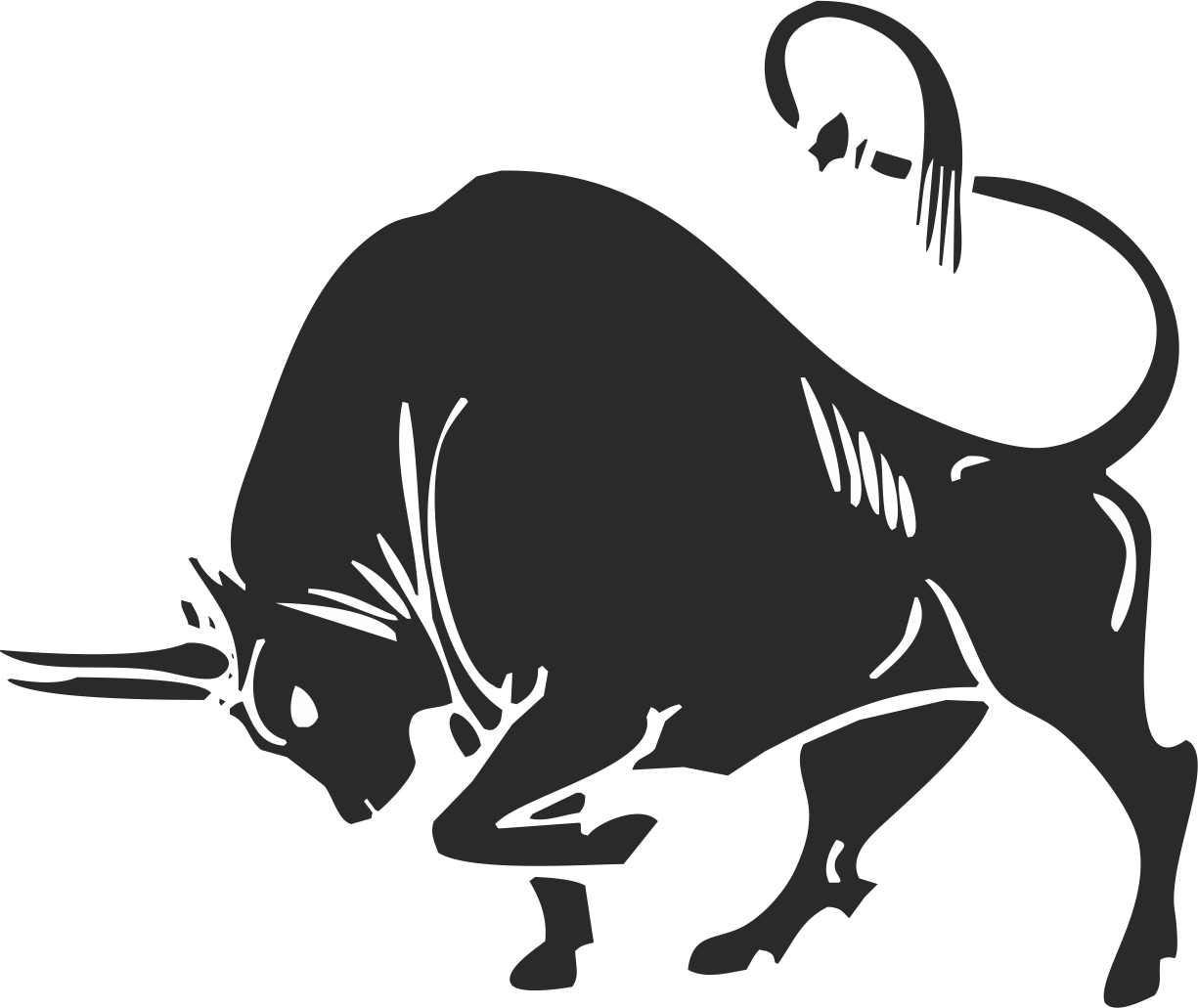 Bull silhouette Free CDR Vectors Art