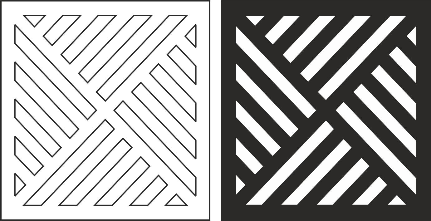 Geometric Grill Pattern Free CDR Vectors Art