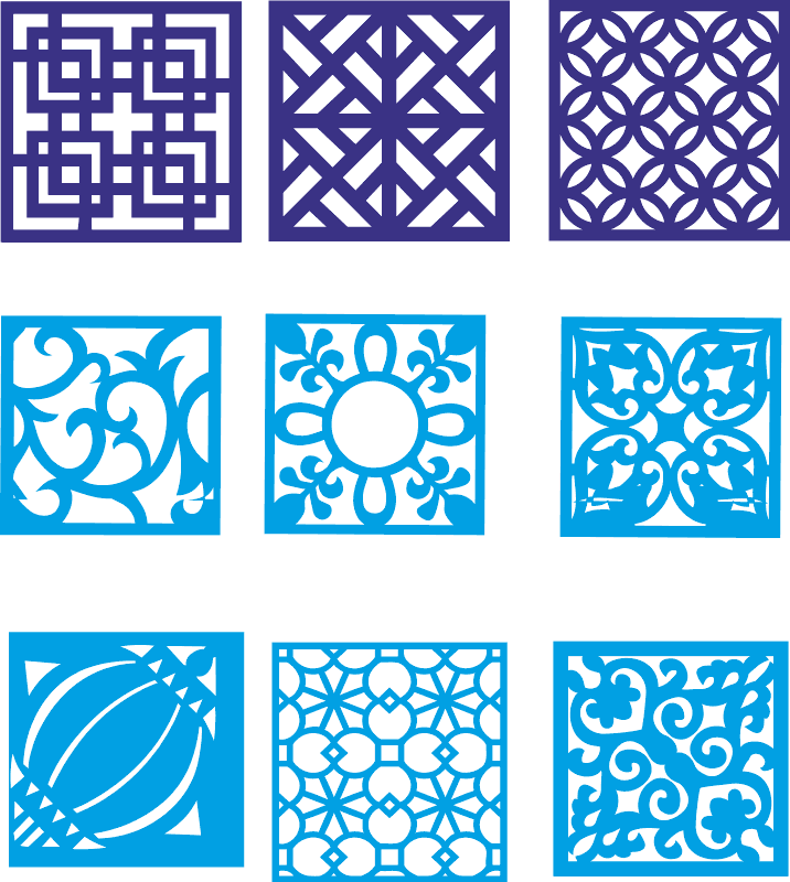 Chinese partition design Free CDR Vectors Art