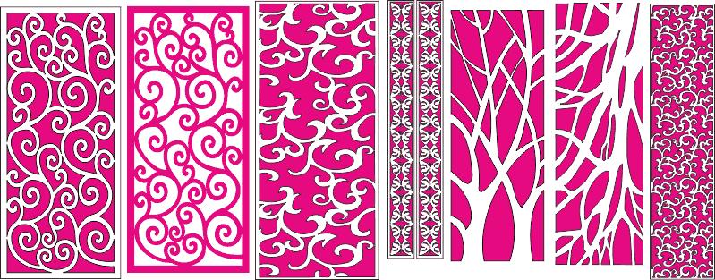 CNC Pattern Decorative Screen Free CDR Vectors Art