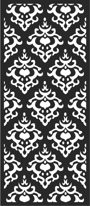 Seamless Floral Panel Free CDR Vectors Art