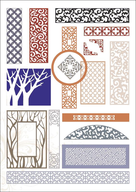 Pattern Screen Panels Free CDR Vectors Art