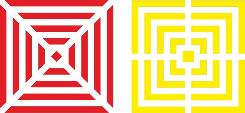 Geometric Patterns Red Free CDR Vectors Art