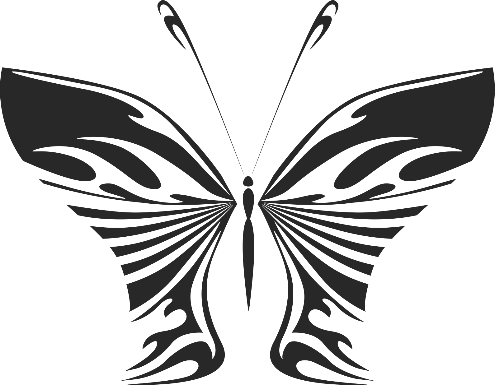 Butterfly Wall decal Free CDR Vectors Art