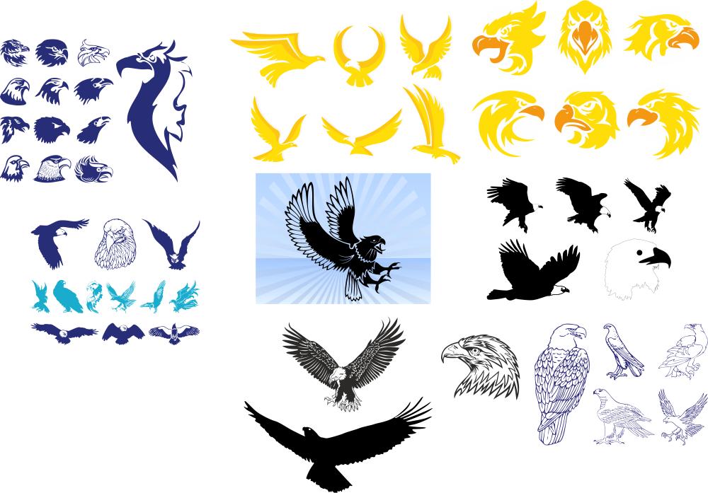 Tribal Wing Tattoos Free CDR Vectors Art