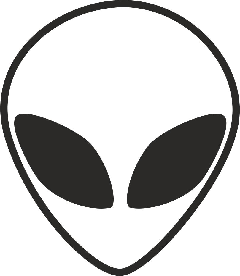 Alien Head Black And White Free CDR Vectors Art