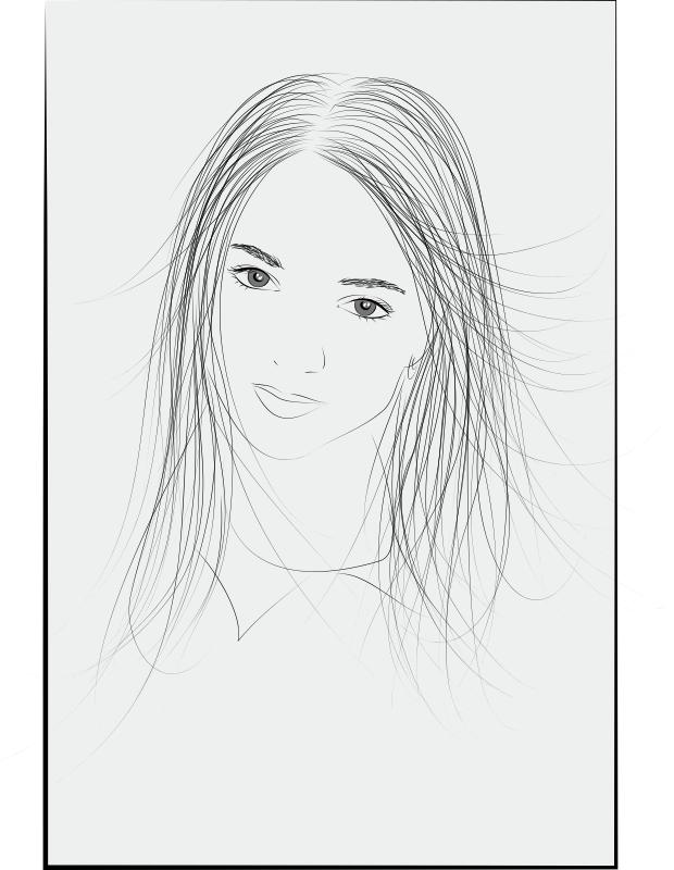 Girl Face Free CDR Vectors Art