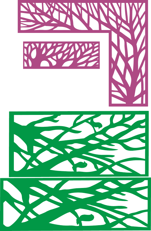 Tree in frame decorative partition Free CDR Vectors Art