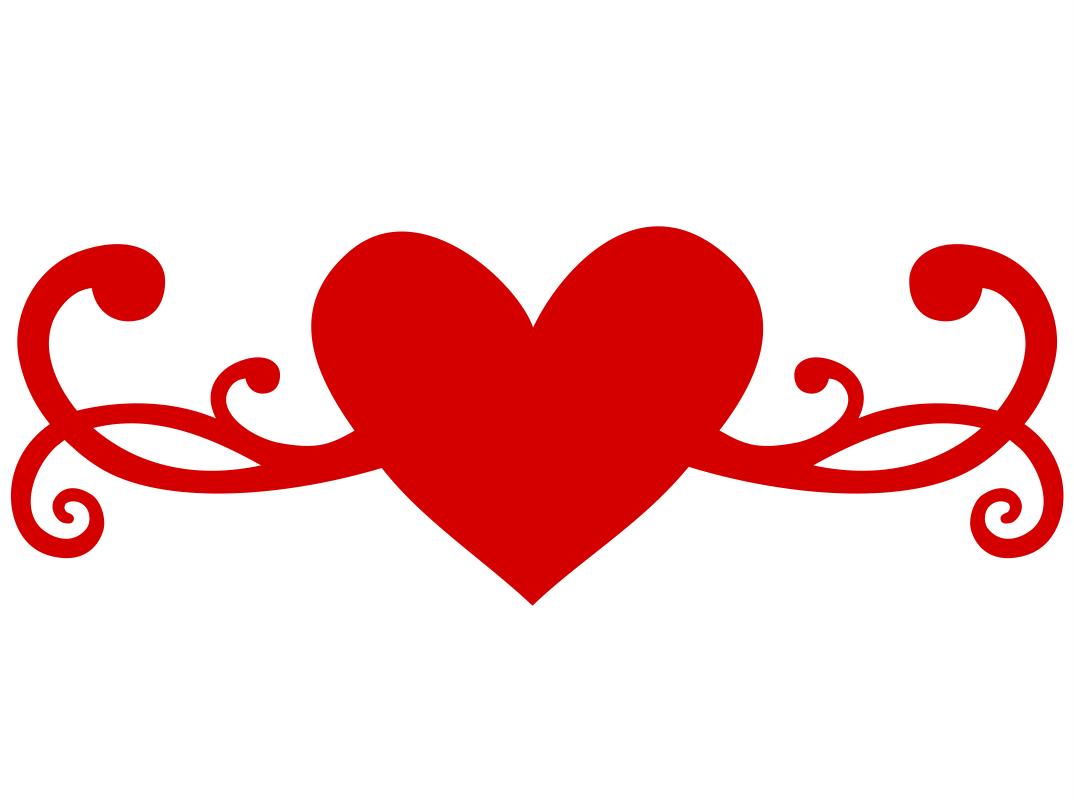Heart Flourish Free CDR Vectors Art