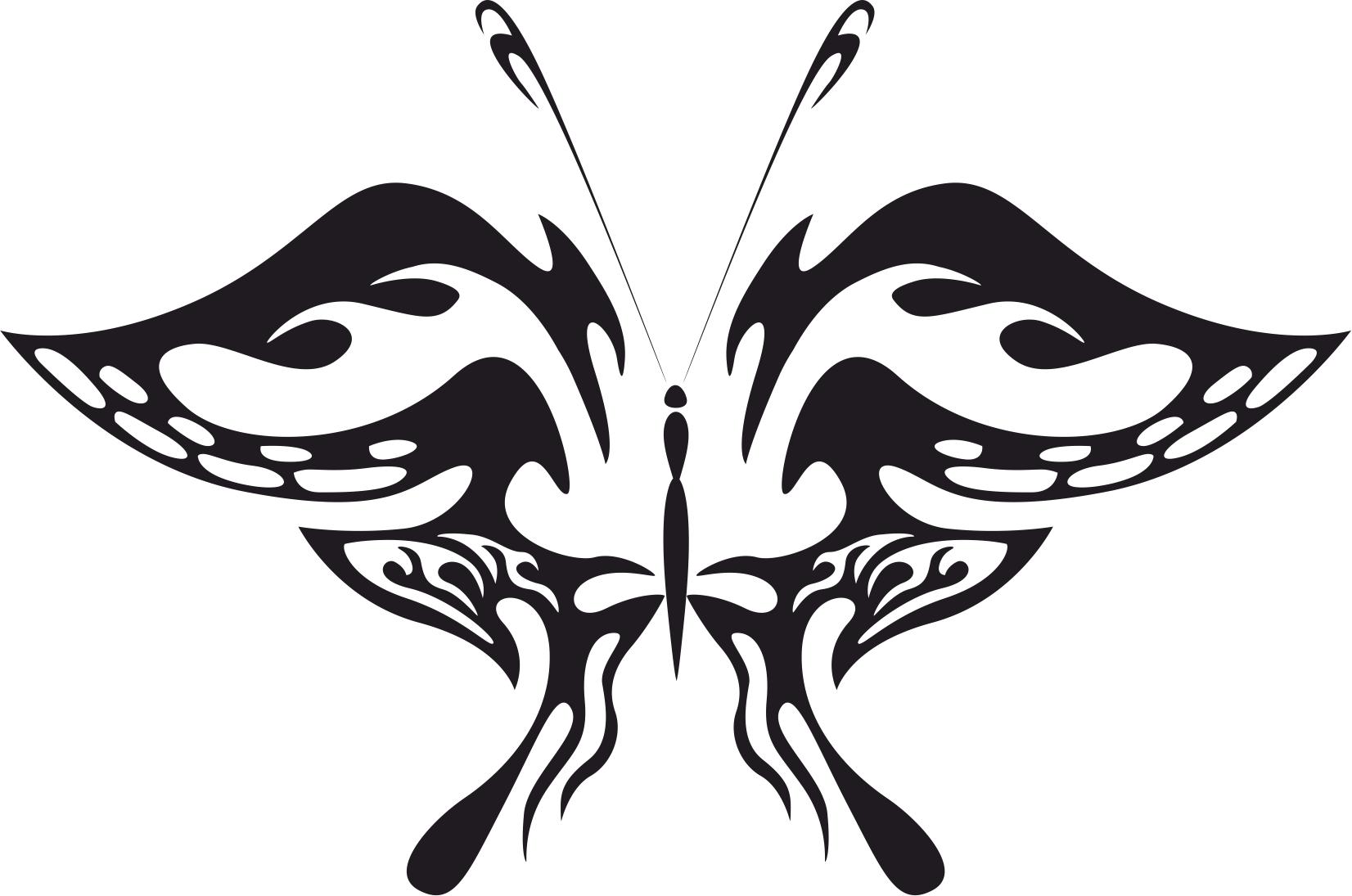Butterfly Silhouette Shape Free CDR Vectors Art