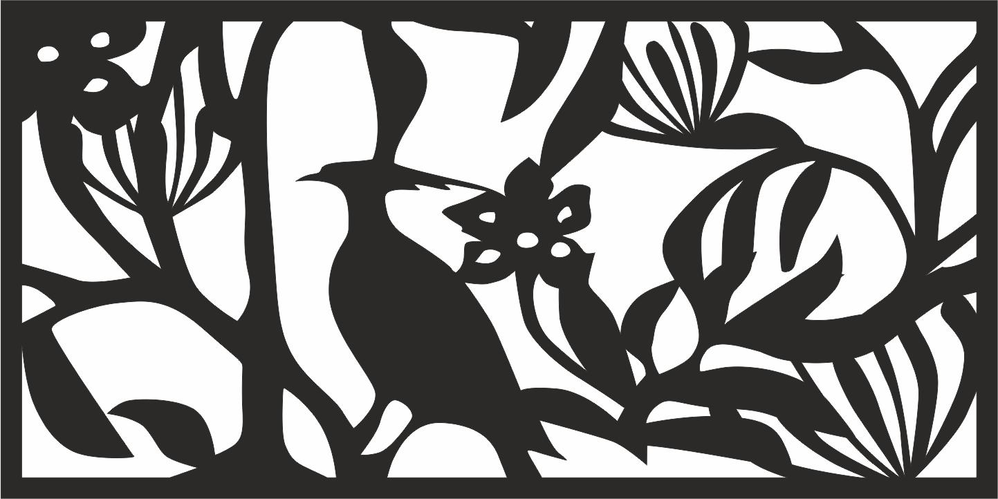 Floral Screen Panel Design Free CDR Vectors Art
