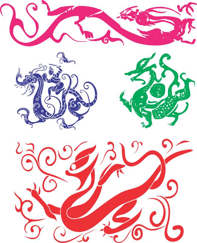 Chinese Dragon Free CDR Vectors Art