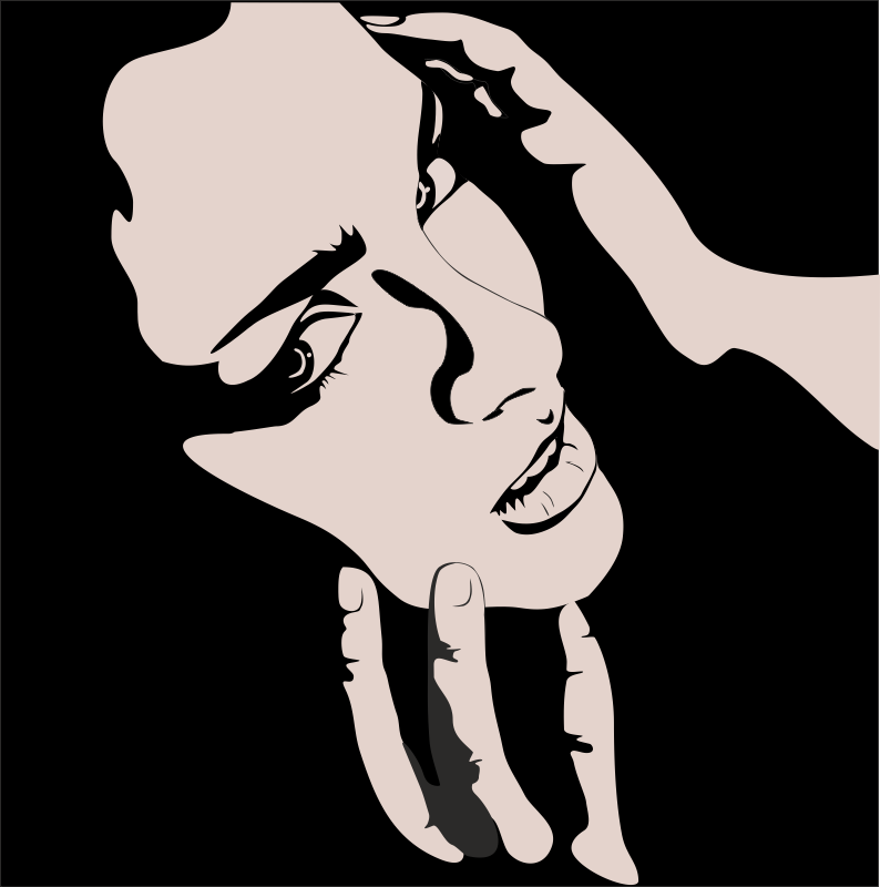 Vector of Woman with hands on face Free CDR Vectors Art