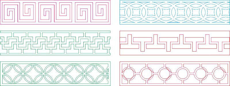 Decorative lattice for CNC machine Free CDR Vectors Art