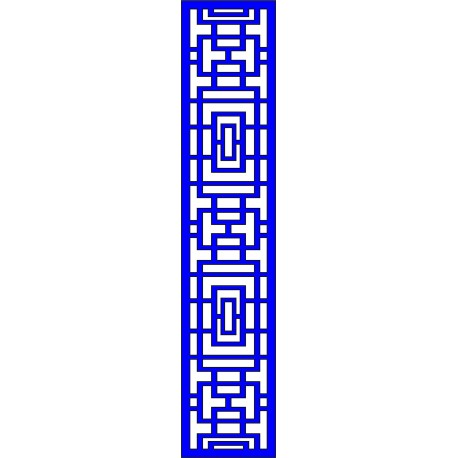 Cnc Panel Laser Cut Pattern File cn-l645 Free CDR Vectors Art
