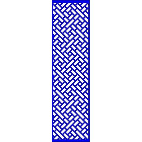 Cnc Panel Laser Cut Pattern File cn-l654 Free CDR Vectors Art