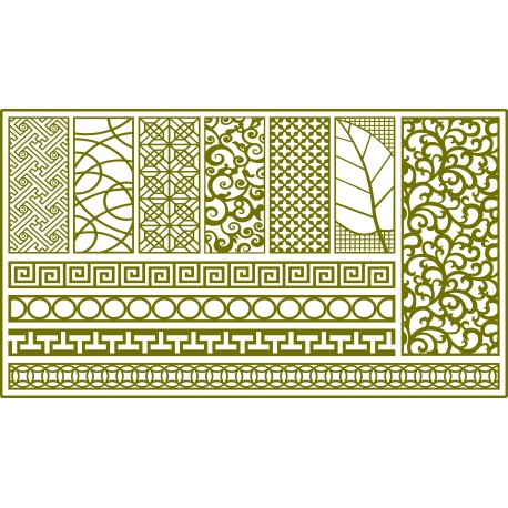 Cnc Panel Laser Cut Pattern File q1 Free CDR Vectors Art