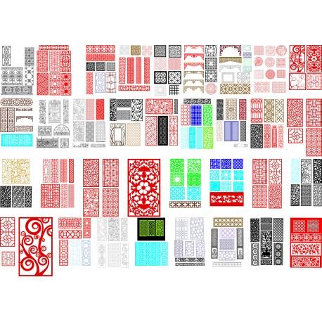 Cnc Panel Laser Cut Pattern File q8 Free CDR Vectors Art