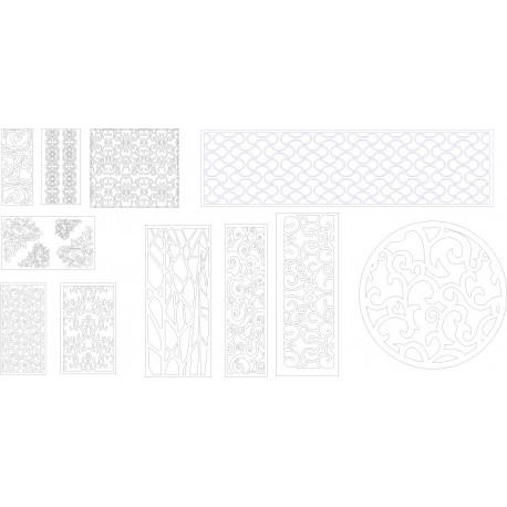 Cnc Panel Laser Cut Pattern File q9 Free CDR Vectors Art