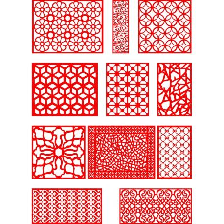 Cnc Panel Laser Cut Pattern File q12 Free CDR Vectors Art