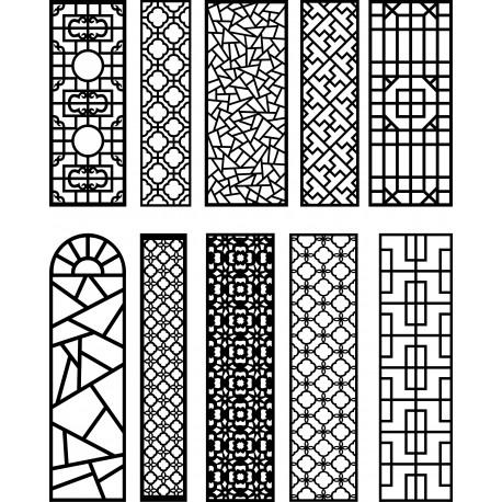 Cnc Panel Laser Cut Pattern File q24 Free CDR Vectors Art