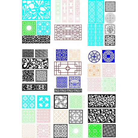 Cnc Panel Laser Cut Pattern File q29 Free CDR Vectors Art