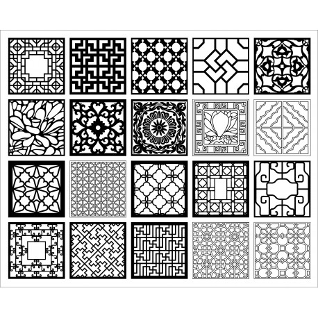 Cnc Panel Laser Cut Pattern File q33 Free CDR Vectors Art