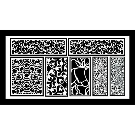 Cnc Panel Laser Cut Pattern File q38 Free CDR Vectors Art