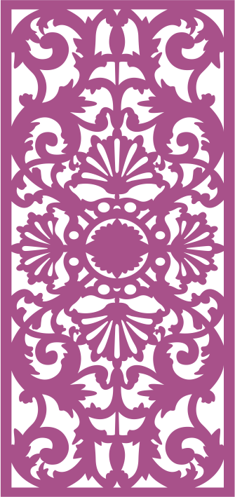 Laser Cut Seamless Decorative Pattern 2 Free CDR Vectors Art
