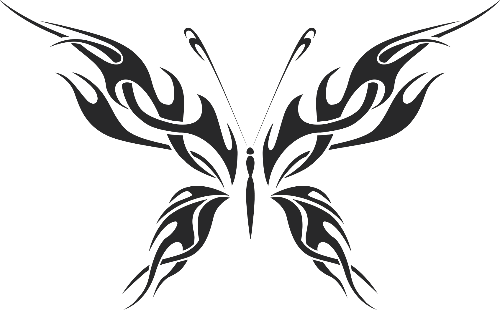 Butterfly Silhouette 010 Free CDR Vectors Art