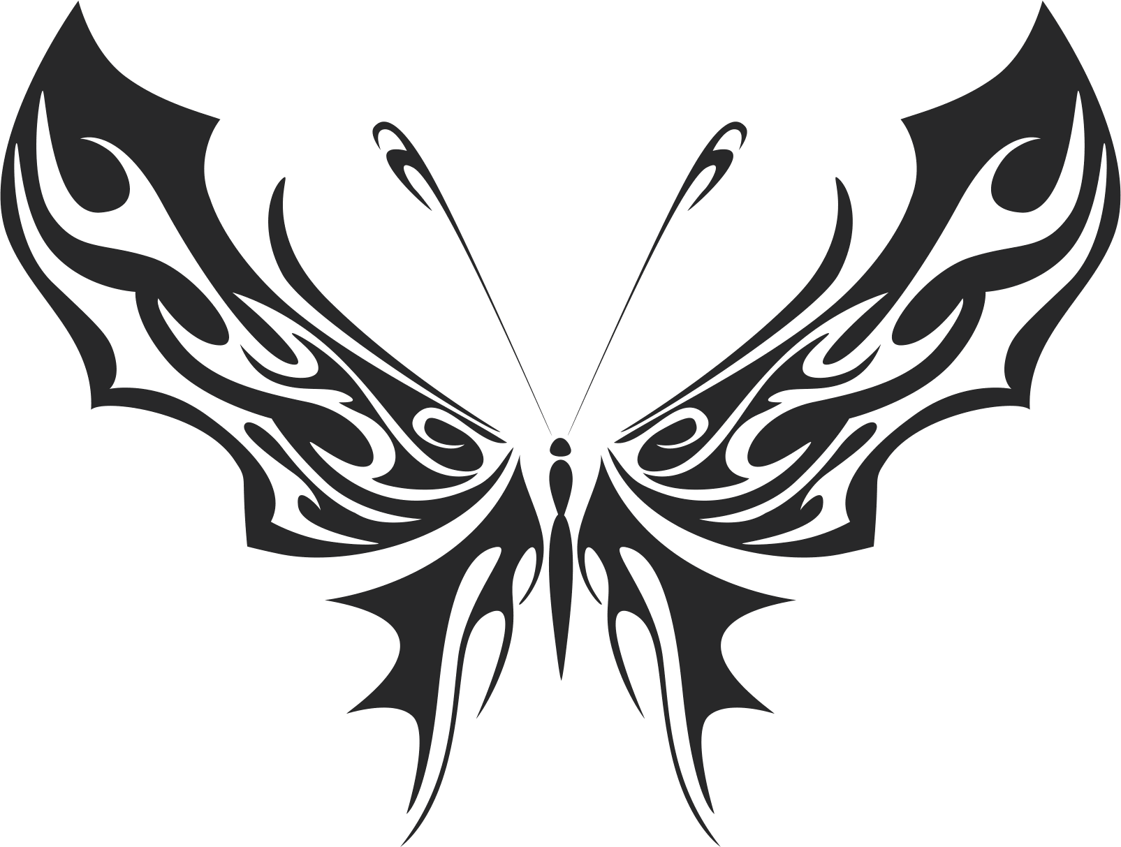 Butterfly Silhouette 035 Free CDR Vectors Art