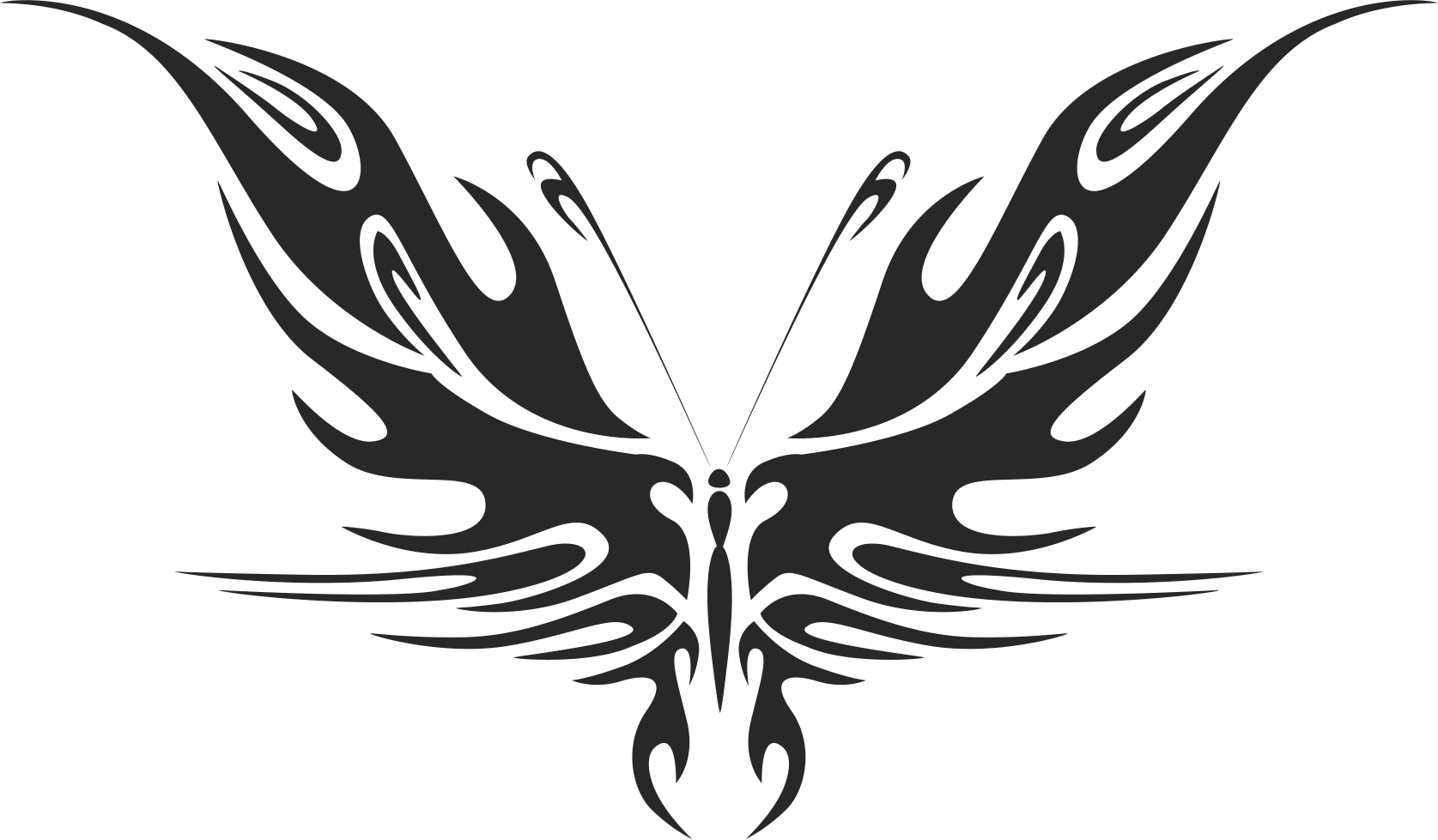 Butterfly Silhouette 044 Free CDR Vectors Art