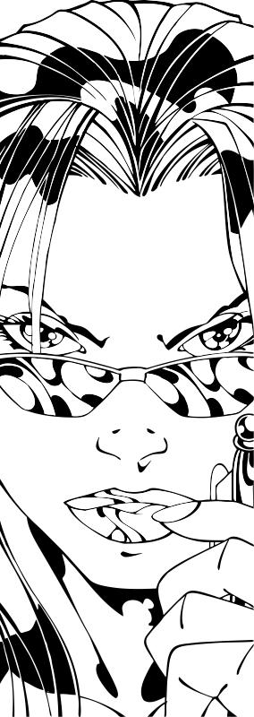 Sandblast woman face pattern Free CDR Vectors Art